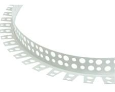 Угол арочный 25x25x3000мм, перфорированный, ПВХ, белый