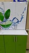 Стол кухонный рабочий 600x600x810мм, без ящиков, МДФ, Эвкалипт 016, коллекция Лайм