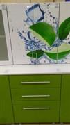 Шкаф кухонный навесной 600x330x720мм, 2 двери, МДФ, Эвкалипт 0462, фасад Лайм, коллекция Лайм