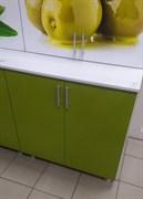 Стол кухонный рабочий 800x600x810мм, 2 двери, без ящика, МДФ, Олива 01, под врезку