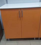 Стол кухонный рабочий 800x600x810мм, без ящиков, 2 двери, МДФ, под врезку мойки, персик 01, коллекция Радуга