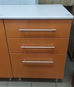 Стол кухонный рабочий 600x600x810мм, 3 ящика, МДФ, персик 01, коллекция Радуга