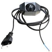 Шнур для бра с диммером (регулятор света), 1.6м, черный