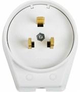 Вилка силовая Rexant 11-8519 для электроплиты, IP20, 40А, 250В, с заземлением, белая
