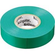 Изолента Navigator NIT-B15-10/BL 71232, 15ммx10м, 150мкм, ПВХ, зеленая