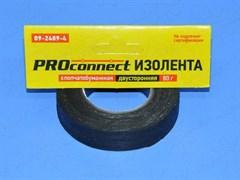 Изолента Proconnect  20ммx11.3м,  80г, двусторонняя, х/б, черная
