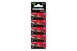 Батарейка для часов Camelion G5 BL-10 Mercury Free (AG5-BP10(0%Hg), 393A/LR754/193, алкалиновая/щелочная, дисковая