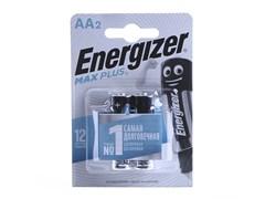 Батарейка Energizer МАХ Plus E91 АА, алкалиновая/щелочная, пальчиковая, упаковка 2шт.