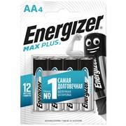 Батарейка Energizer МАХ Plus E91 АА, алкалиновая/щелочная, пальчиковая, упаковка 4шт.