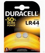 Батарейка Duracell  Б0009737, 1.5В, LR44, BP-2, алкалиновая/щелочная, дисковая