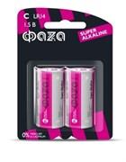 Батарейка ФАZА LR 6 Super Alkaline BL-2, алкалиновая/щелочная, пальчиковая, упаковка 2шт.