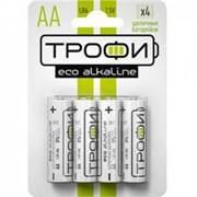 Батарейка ТРОФИ ЭКО LR6/316, алкалиновая/щелочная, пальчиковая