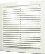Решетка вентиляционная 4444РЦ, 440х440мм, цилиндрическая, с сеткой, пластиковая, белая