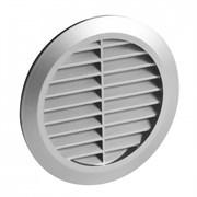 Решетка вентиляционная Awenta TRU-13, диаметр 125мм, с жалюзи, пластиковая, белая