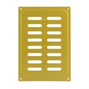 Решетка вентиляционная 165х240мм, с жалюзи, с заслонкой, металлическая, желтая