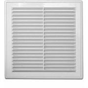 Решетка вентиляционная EVENT 1313М, 130х130мм, с жалюзи, пластиковая, белая
