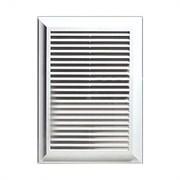 Решетка вентиляционная EVENT 1724М, 170х240мм, с жалюзи, пластиковая, белая