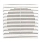 Решетка вентиляционная ЭРА 1313Г, 130х130мм, с антимоскитной сеткой, с жалюзи, пластиковая, белая