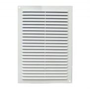 Решетка вентиляционная ЭРА 1929С, 190х290мм, с антимоскитной сеткой, с жалюзи, пластиковая, белая