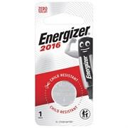 Батарейка ENERGIZER CR2016, литиевая, дисковая, плоская