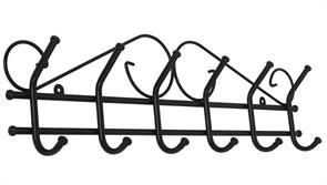Вешалка настенная Ажур-6 ВНА201Ч, 710x210x80мм, металл, черная