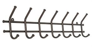 Вешалка настенная Норма-7 ВН66М, 705x80x165см, металл, медный антик
