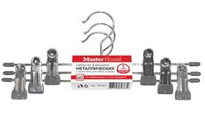 Вешалка-плечики для юбок и брюк MasterHouse Маргарет-360367, 300мм, металл, 3шт в упаковке