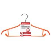 Вешалка-плечики MasterHouse Шэрон 60290, 410мм, антискользящее покрытие, металл, коралл