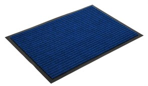 Коврик напольный Floor mat (Полоска), 60х90см, влаговпитывающий, синий