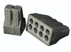 Клемма розеточная ТДМ КБМ-773-306, 6-контактная, 2.5мм2, серая