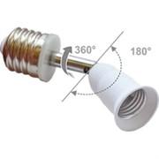 Переходник Ecola base A7T17WEAY с цоколя E27 на E27, на шарнире 360/180 градусов, 45мм, без выключателя, белый