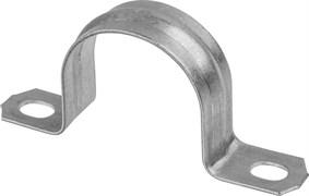 Скоба металлическая Светозар, диаметр 19мм, двухлапковая, для крепления металлорукава, упаковка 50шт
