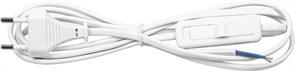 Шнур питания сетевой ФЕРОН KF-HK-1 23048, 1.9м, 230В, IP20, с проходным выключателем, белый