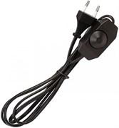 Шнур Smartbuy SBE-06-P07-b для бра с диммером, ШВВП 2х0.75мм2, 6А, 250В, 1.7 м, плоская вилка, черный