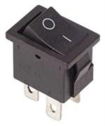 Выключатель клавишный REXANT Mini 36-2146, 250В, 6А (4с), ON-OFF, черный