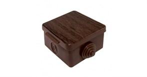 Коробка распределительная/распаячная TDM 1401-0611, 65x65x50мм, IP54, открытой проводки ОП, 4 входа, квадартная, с крышкой бук