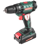 Дрель-шуруповерт аккумуляторная Hammer Flex ACD180Li, 18В, 2x1.5Ач, 10мм, 0-350/0-1050об/мин, 35Нм, быстрая зарядка, в кейсе
