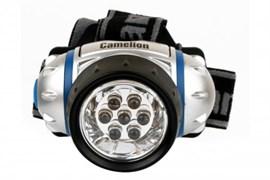 Фонарь налобный Camelion LED5310-7F3, 3 элемента питания R03 в комплекте, 7  светодиодов, 0.6Вт, 19Лм, 3 режима