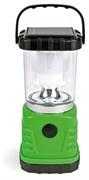 Фонарь для кемпинга Smartbuy SBF-02-G, аккумулятор 4В, 0.8Ah, 5 светодиодов, USB-вход  для зарядки гаджетов, зарядное устройство 220В, зеленый