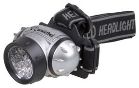 Фонарь налобный Smartbuy SBF-HL017-B, 3 элемента питания R03, 1 светодиод  1Вт, 50Лм, 3 режима, синий