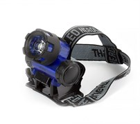 Фонарь налобный Smartbuy SBF-HL018-B, 3 элемента питания R03, 1 светодиод 1Вт, 50Лм, синий