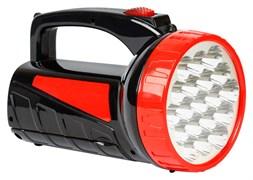 Фонарь-прожектор Smartbuy SBF-400-К, аккумуляторный 4В, 1.3Ah, 1 светодиод 3Вт, 6 светодиодов, 2 режима, зарядное устройство 220В, красный