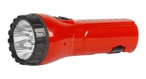 Фонарь ручной Smartbuy  SBF-93-R, аккумуляторный 4В 0.5 Ah, 4 светодиода, 2 режима работы, встроенная вилка, 220В, красный