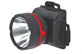 Фонарь налобный Ultraflast 11780 LED 909, 3 элемента питания R6, 1 светодиод, 15Лм, черный