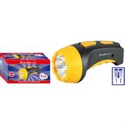 Фонарь ручной Ultraflast 12867 LED 3804М, аккумуляторный, 4 светодиода, 15Лм, 8 режимов, желтый