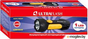 Фонарь ручной Ultraflast 10922 LED 3828, аккумуляторный 4В 0.5Ah, 18Лм, 1 светодиод 0.5Вт, встроенная вилка, 220В, черный