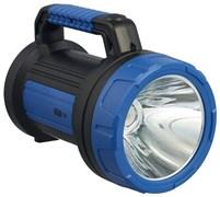Фонарь-прожектор КОСМОС Рremium KOSACCU9107WUSB LED, аккумуляторный 4В 6Ah, 1 светодиод 7Вт, 1 светодиод 10Вт боковой светильник, 420Лм, с зарядным устройством,синий