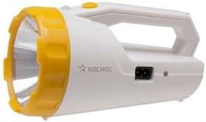 Фонарь-прожектор КОСМОС KOCAccu9191LED, аккумуляторный 4В 2Ah, 1 светодиод 3Вт, 240Лм, бело-желтый