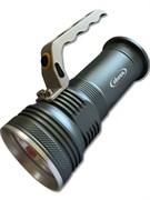 Фонарь-прожектор Облик 8221, аккумуляторный 2х3.7В, светодиод Т6 10Вт, 600Лм, 3 режима, серый