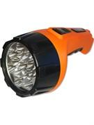 Фонарь ручной Облик 203, аккумуляторный 4В 1.2Аh, 1 светодиод 3Вт, 150Лм, встроенная вилка, 220В, оранжевый